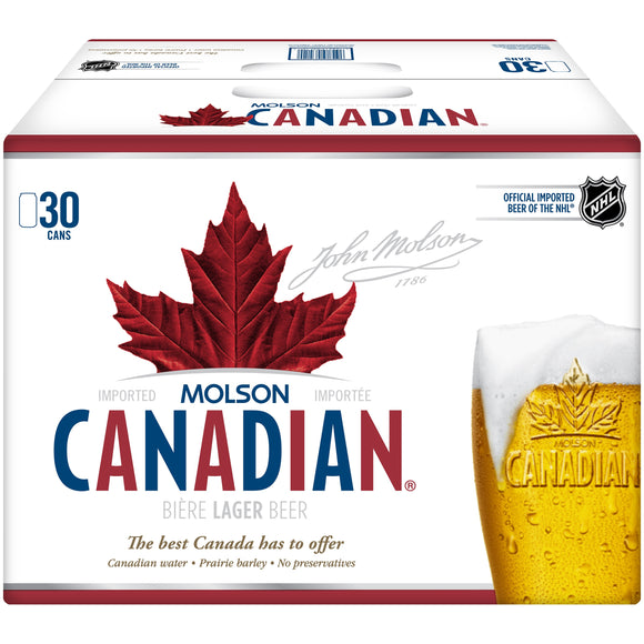 Molson Canadian 30 Can Ctn 355ML