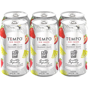 TEMPO GIN SMASH STRAWBERRY LEMON 6 CANS