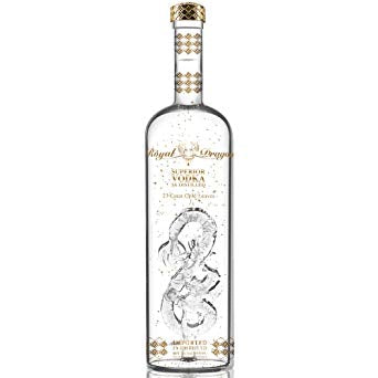 ROYAL DRAGON IMPERIAL VODKA WITH 23 CARAT GOLD LEAVES 1.5 L