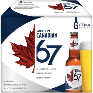 MOLSON CANADIAN 67 12 pack btl 341 ML