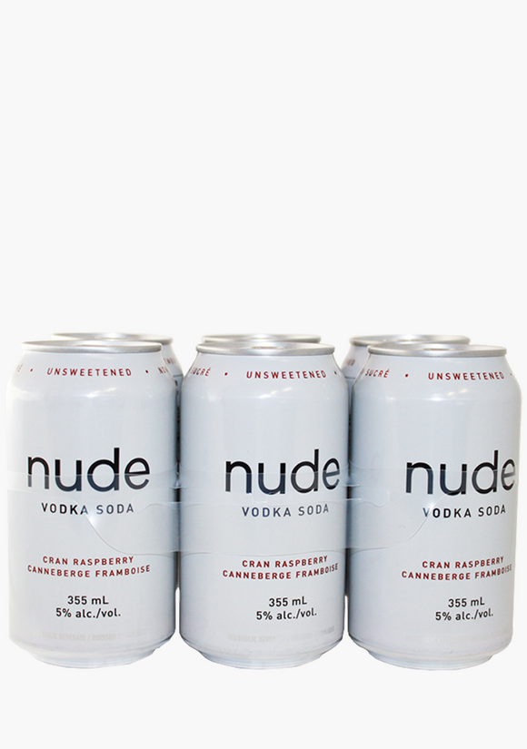 NUDE VODKA SODA CRANBERRY RASP