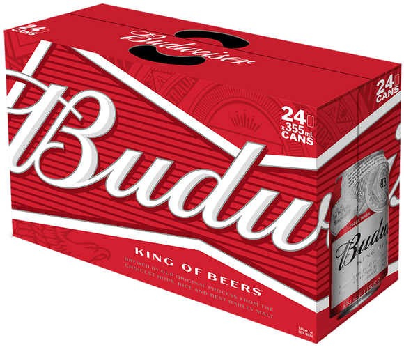 Budweiser 24 Can Ctn 355ML