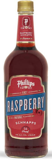 PHILLIPS RASPBERRY SCHNAPPS 750 ML