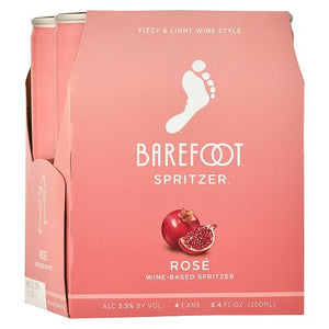 BAREFOOT ROSE SPRITZER 4 CAN