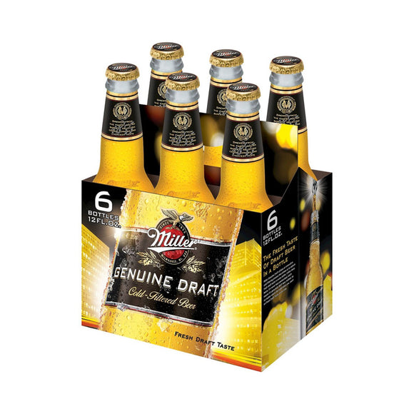 MILLER GENUINE DRAFT 6 BTLS