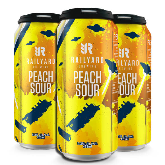 RAILYARD PEACH SOUR 473 ML  4 PACK