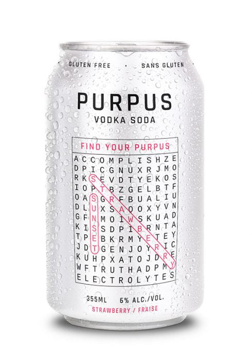 PURPUS STRAWBERRY VODKA SODA 6 CANS