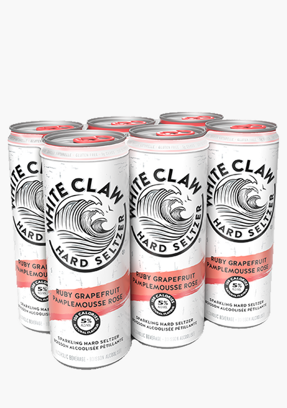 WHITE CLAW RUBY GRAPEFRUIT 6 P