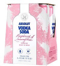 ABSOLUT SODA RASPBERRY 4PCK CANS