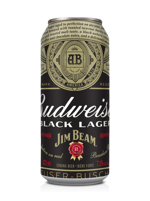 BUDWEISER BLACK JIM BEAM 4 CAN