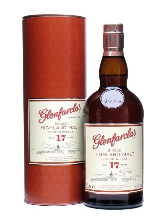 GLENFARCLAS 17 YEAR OLD J & G 750 ML