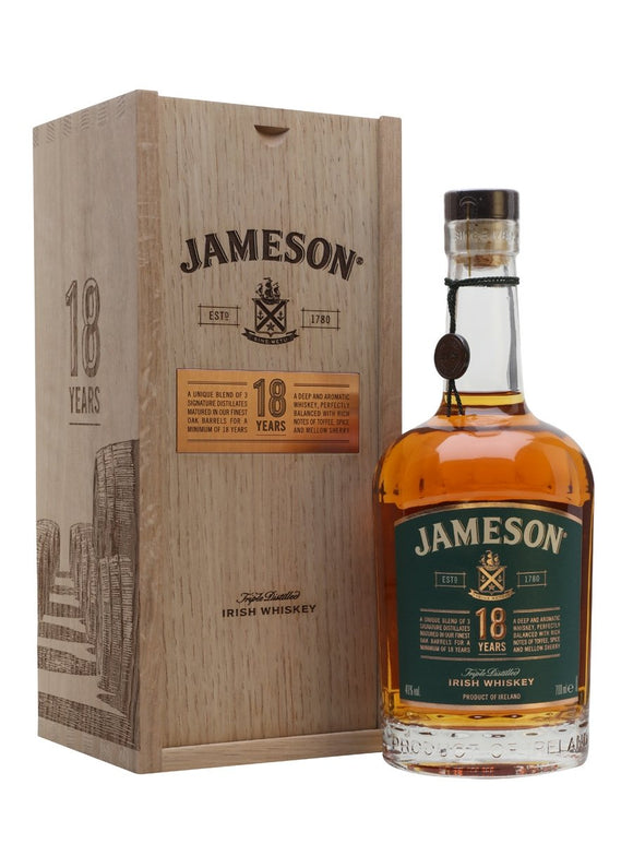 JAMESON 18YO IRISH WHISKEY