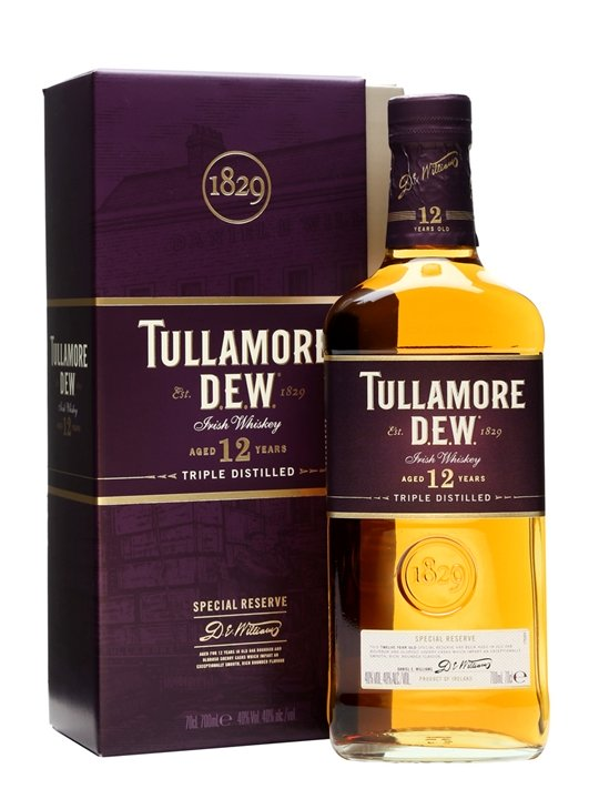 TULLAMORE DEW IRISH WHISKY 12 YEAR 750 ML