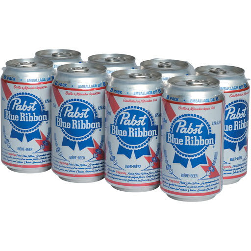 PABST BLUE RIBBON 8-PACK 355ML