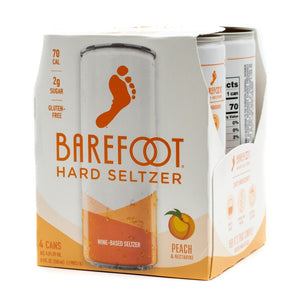 BAREFOOT PEACH NECTARINE SELTZER 4 CANS