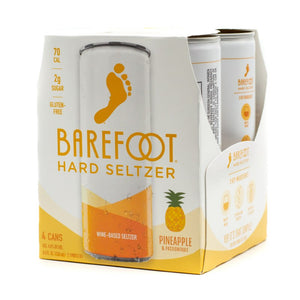 BAREFOOT PINEAPPLE PASSION FRUIT SELTZER 4 CANS