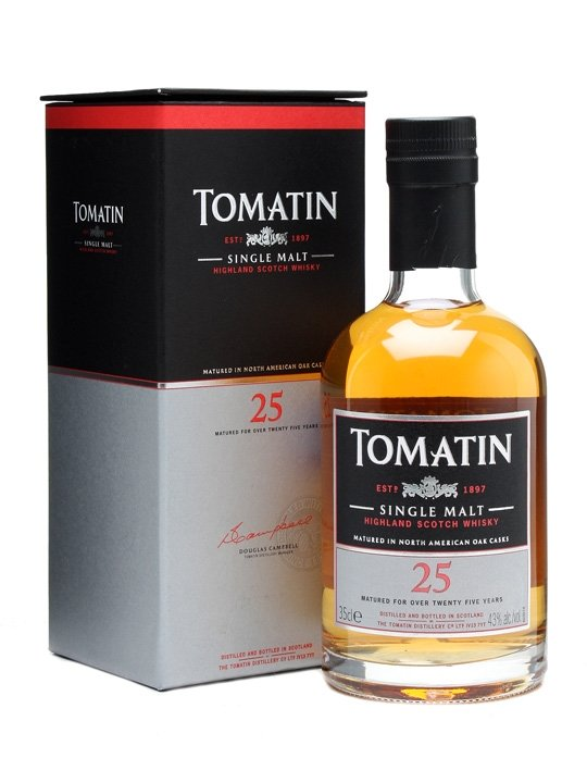 TOMATIN 25 YEAR OLD SINGLE MALT 750 ML