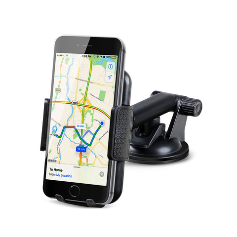 360 Degrees Rotation Universal Phone Holder, Extendable Arm, Strong Sticky Gel Pad