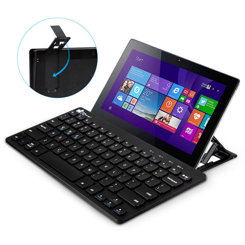 Ultra-Slim Multi-Device Bluetooth Keyboard with Stand