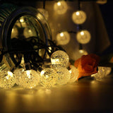 Decorative Waterproof Solar String Lights Crystal Ball For Garden / Christmas / Home Party