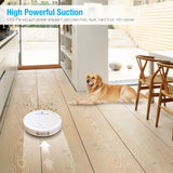 White Smart Robot Vacuum Cleaner House Cleaning Robot Floor Cleaner For Carpet
