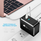Compact AUTO IC USB Type C Wall Charger Folding Plug