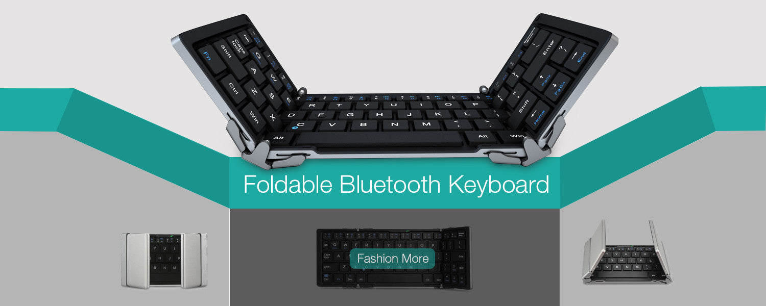 Compact Wireless Foldable Bluetooth Keyboard For Phone
