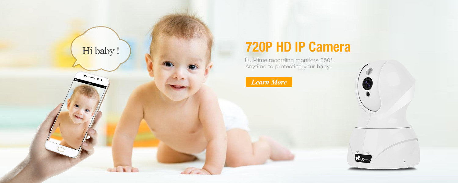 720P HD IP Camera | Full-time recording montiors350°  | Shop Now