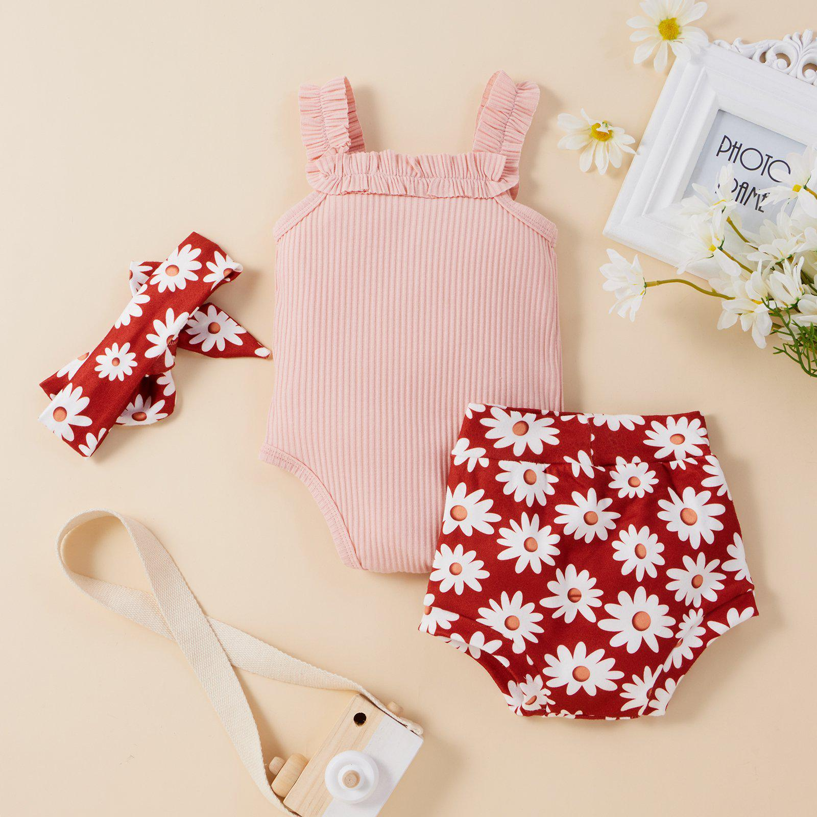 Baby Girl Floral Rompers Suits