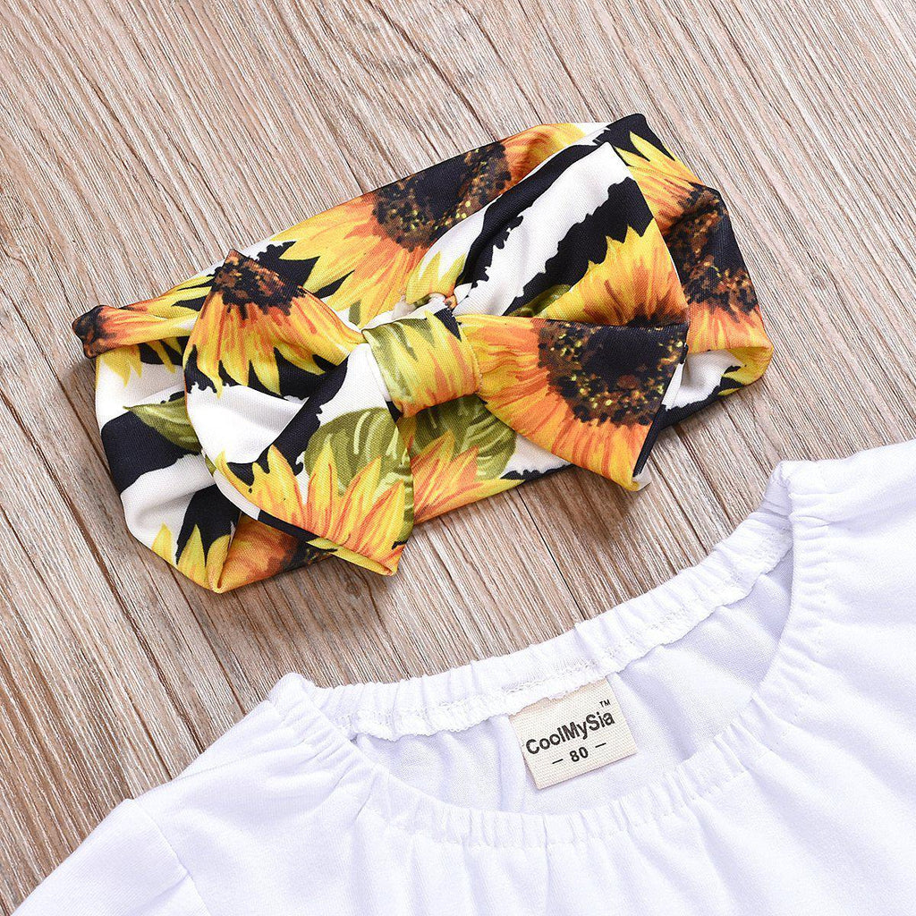 3-Piece Baby Sunflower Suit