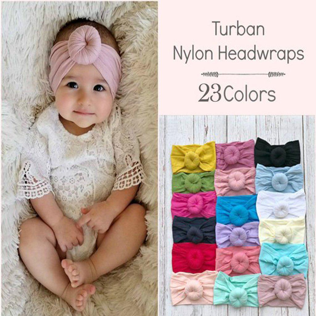Baby headdress 23 colour nylon wide children's headdress