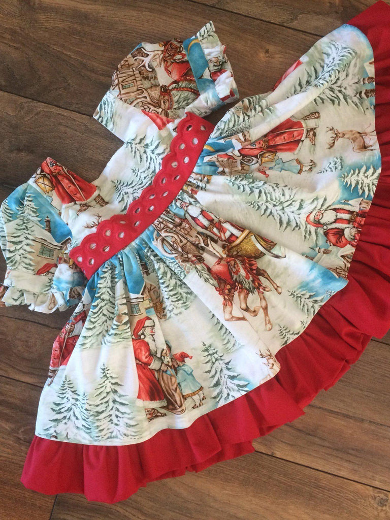 Children's Santa Claus Big Bow Skirt