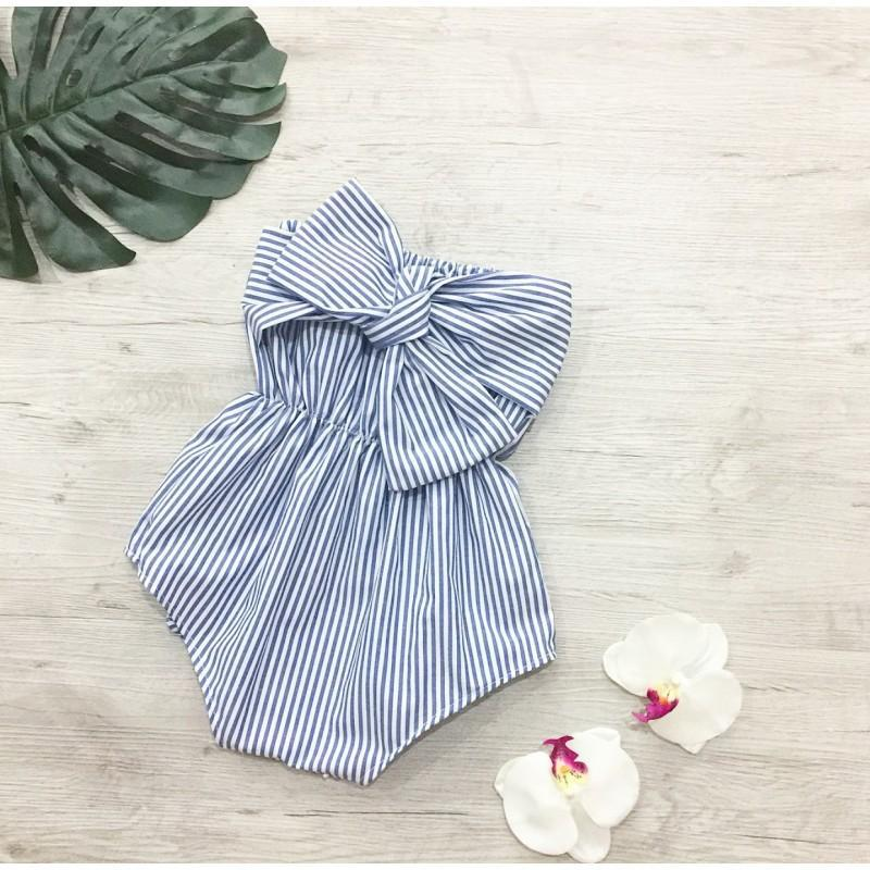 Baby Bowknot Boob Tube Cotton Romper