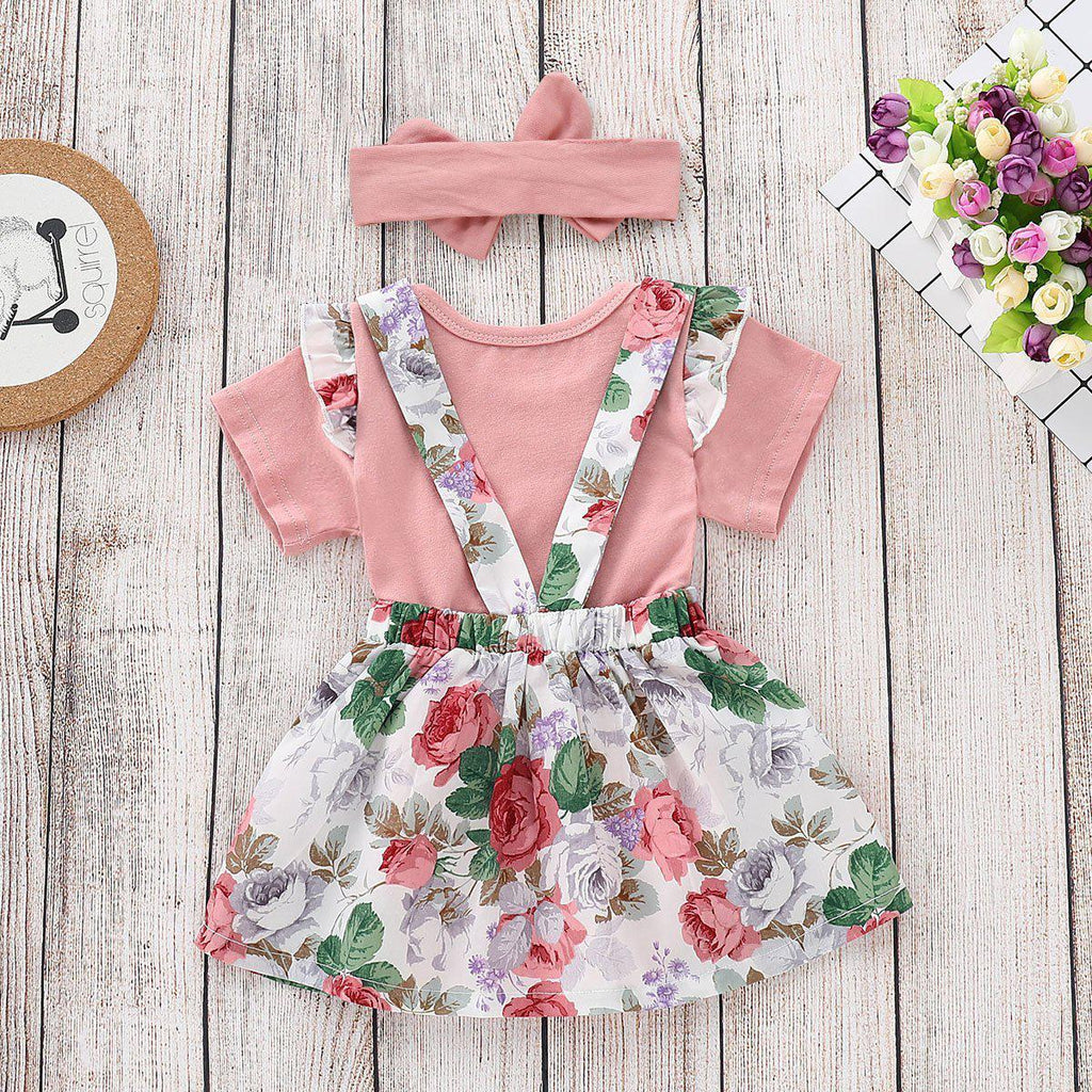 2-piece Baby Shivering Cotton Shirt Suit