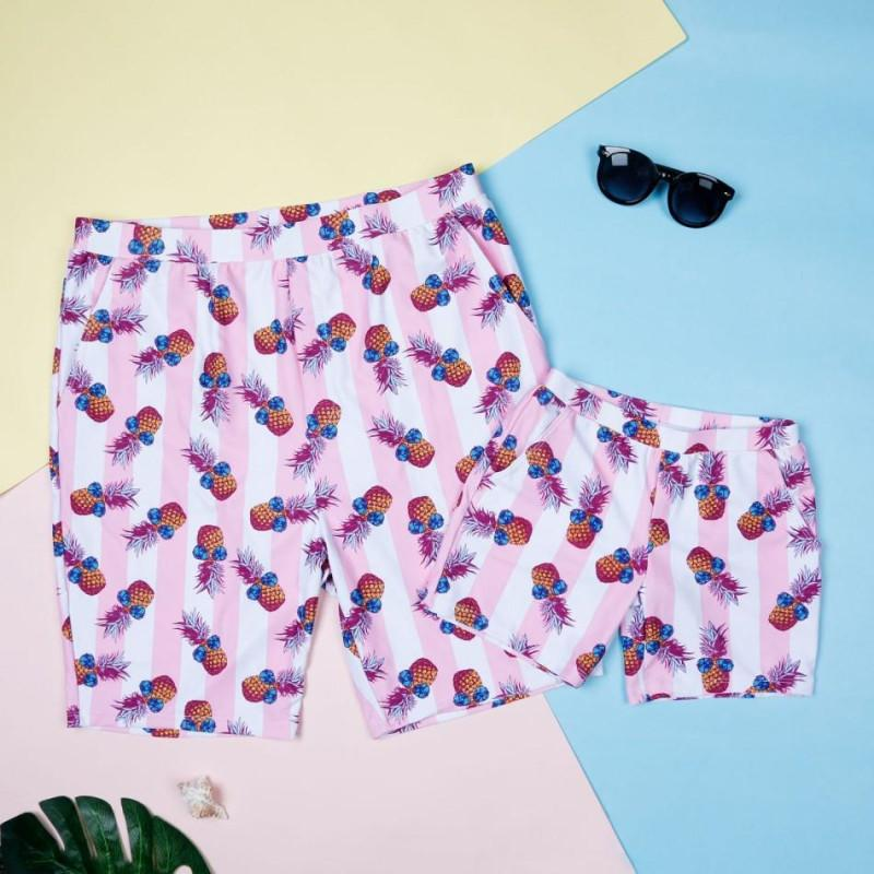 One-piece hot Sunglasses pineapple family swimsuit