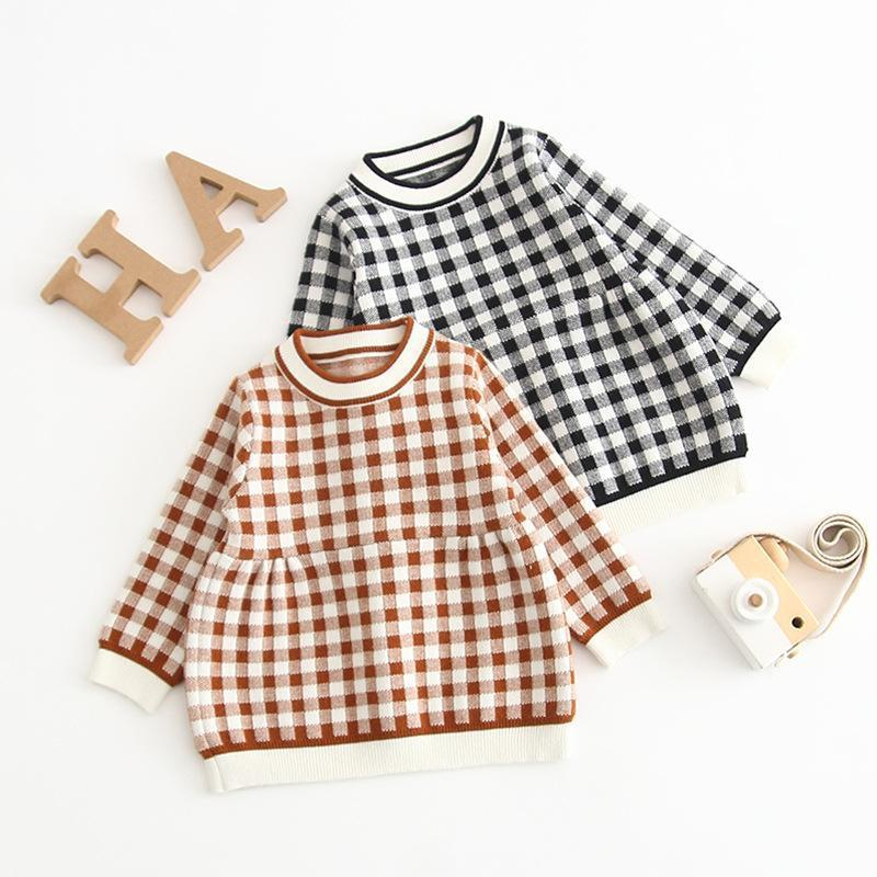 Baby Girl Plaid Sweater Dress