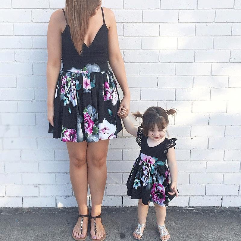 Mom and Me One-piece Flower Dress