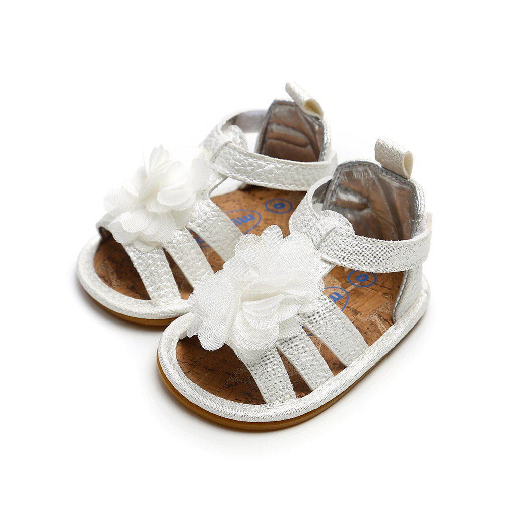 Baby Big Flower Hollow Out Shoes 0-18m