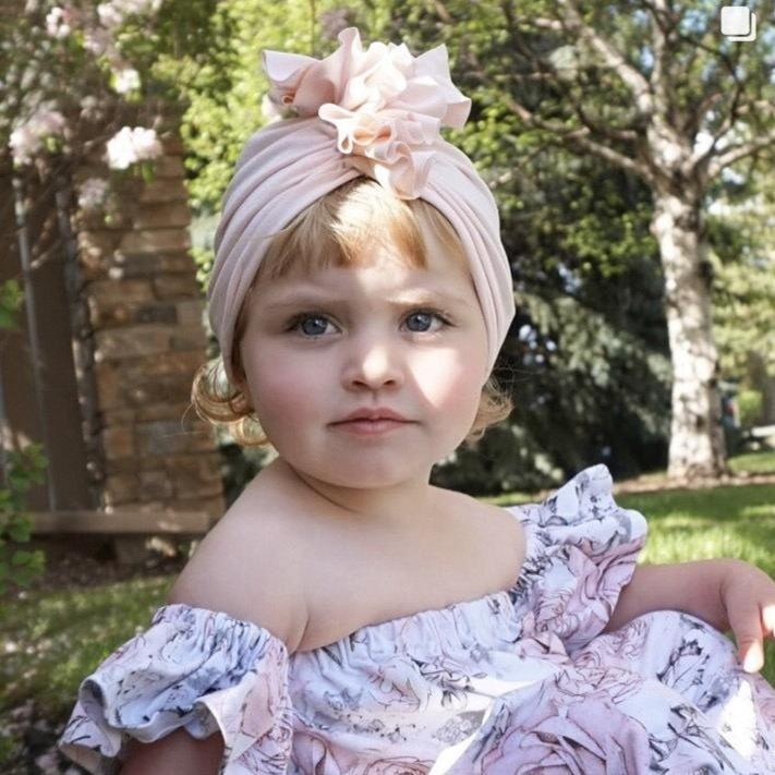 Baby  Fold Flower Headband Hats