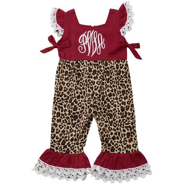 Girls Leopard  Flared Pants