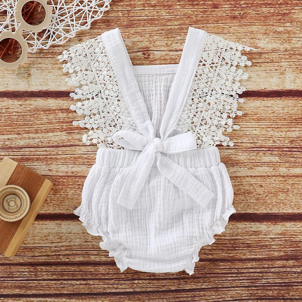 Baby Lace Cotton Romper
