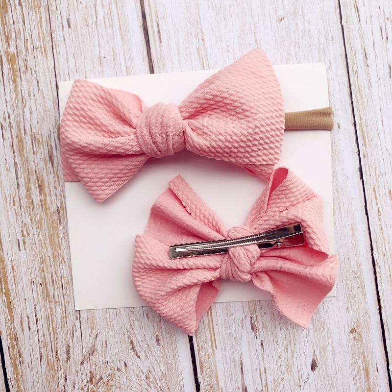 2-Piece Baby Bow Hair Band + Hair Clip