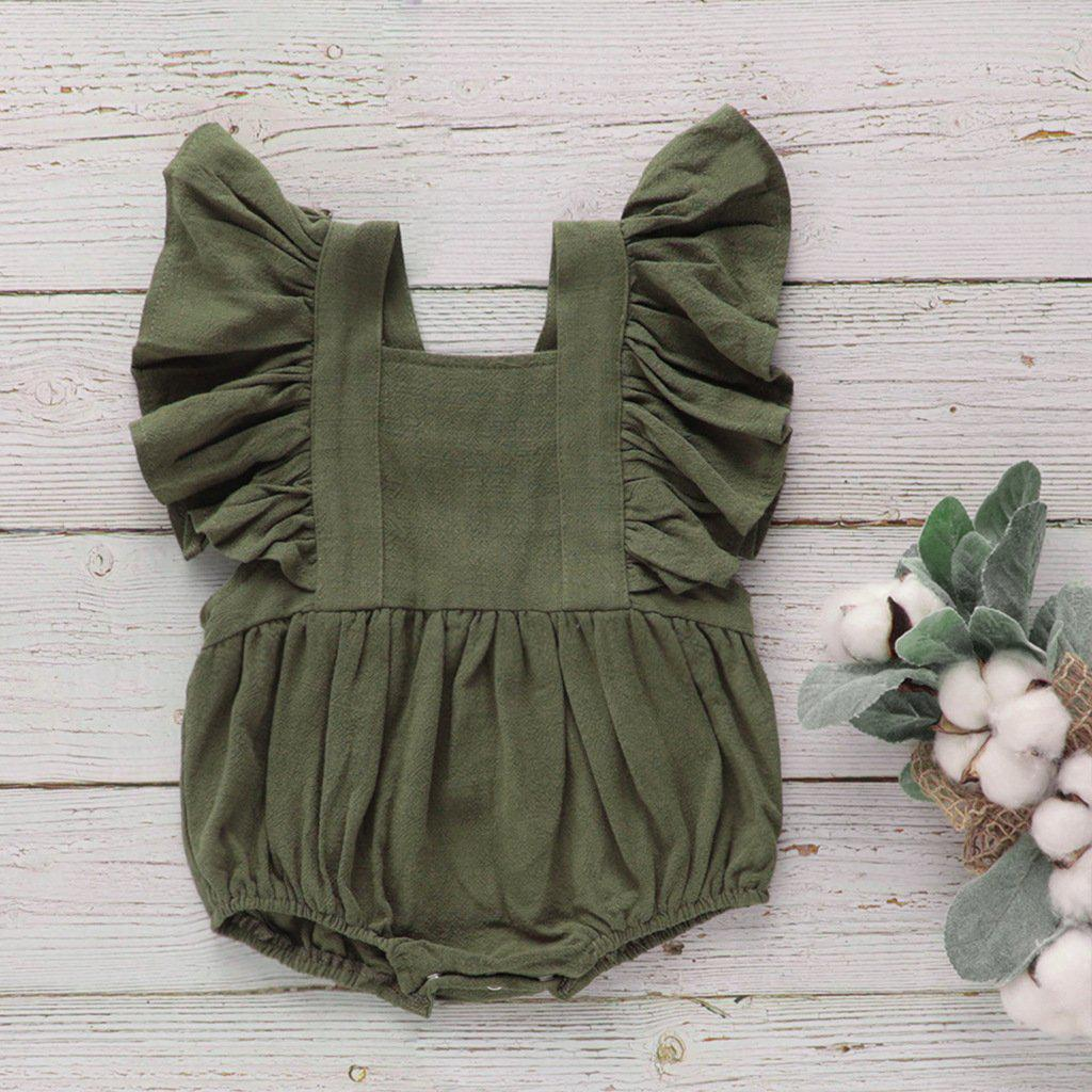 Baby Cotton Pleated Jumpsuit