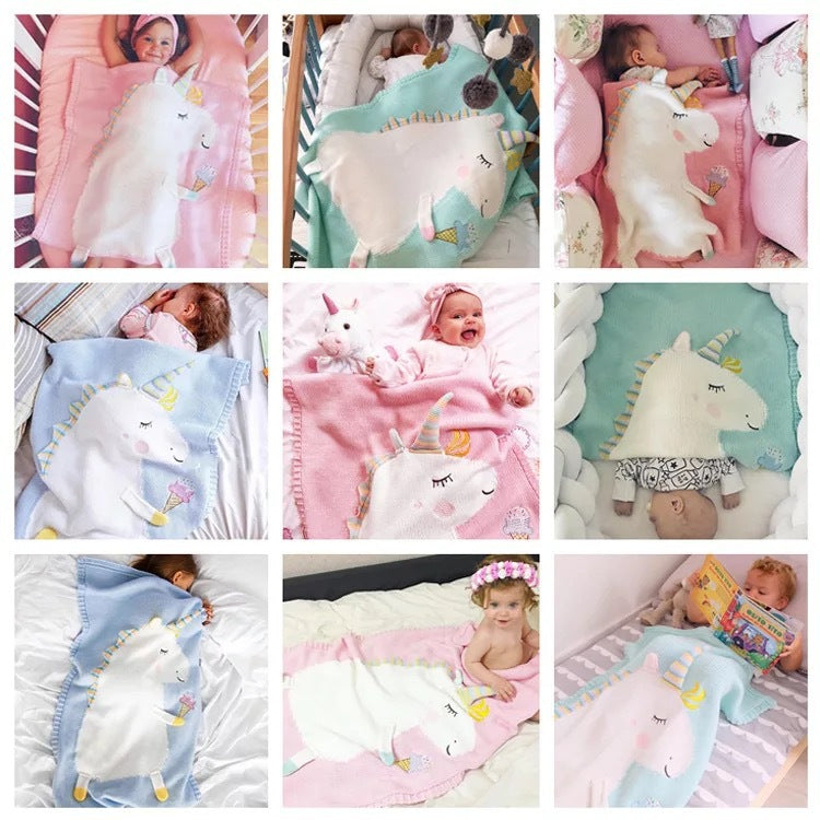 Baby Lovely 3D Unicorn Sleeping Knit Blanket