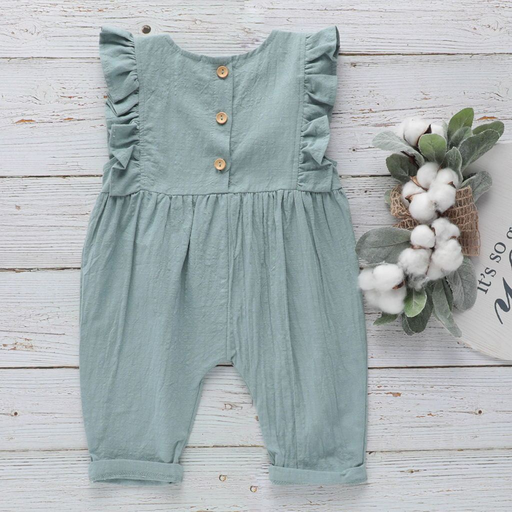 Baby Cotton Linen Jumpsuit