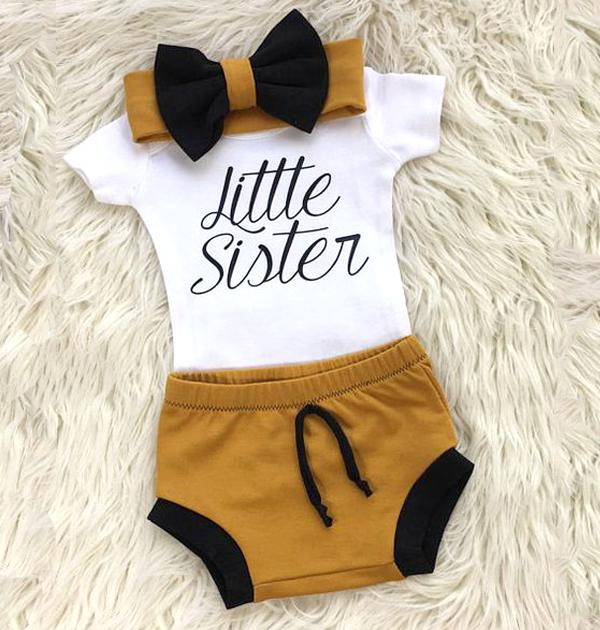 3-piece Baby Littler Sister Suit