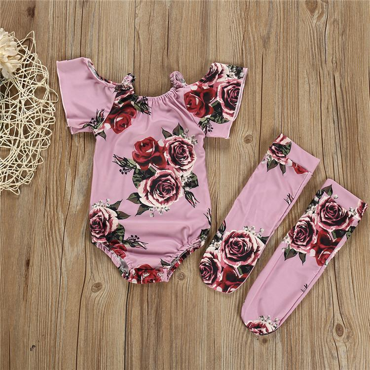 2-piece Sassy Flower Suit with Socks