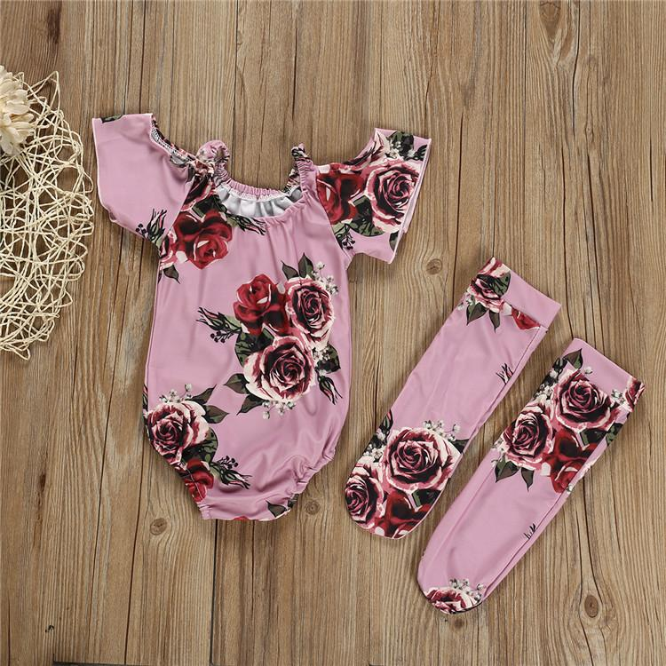 2-piece Sassy Flower Suit with Legging