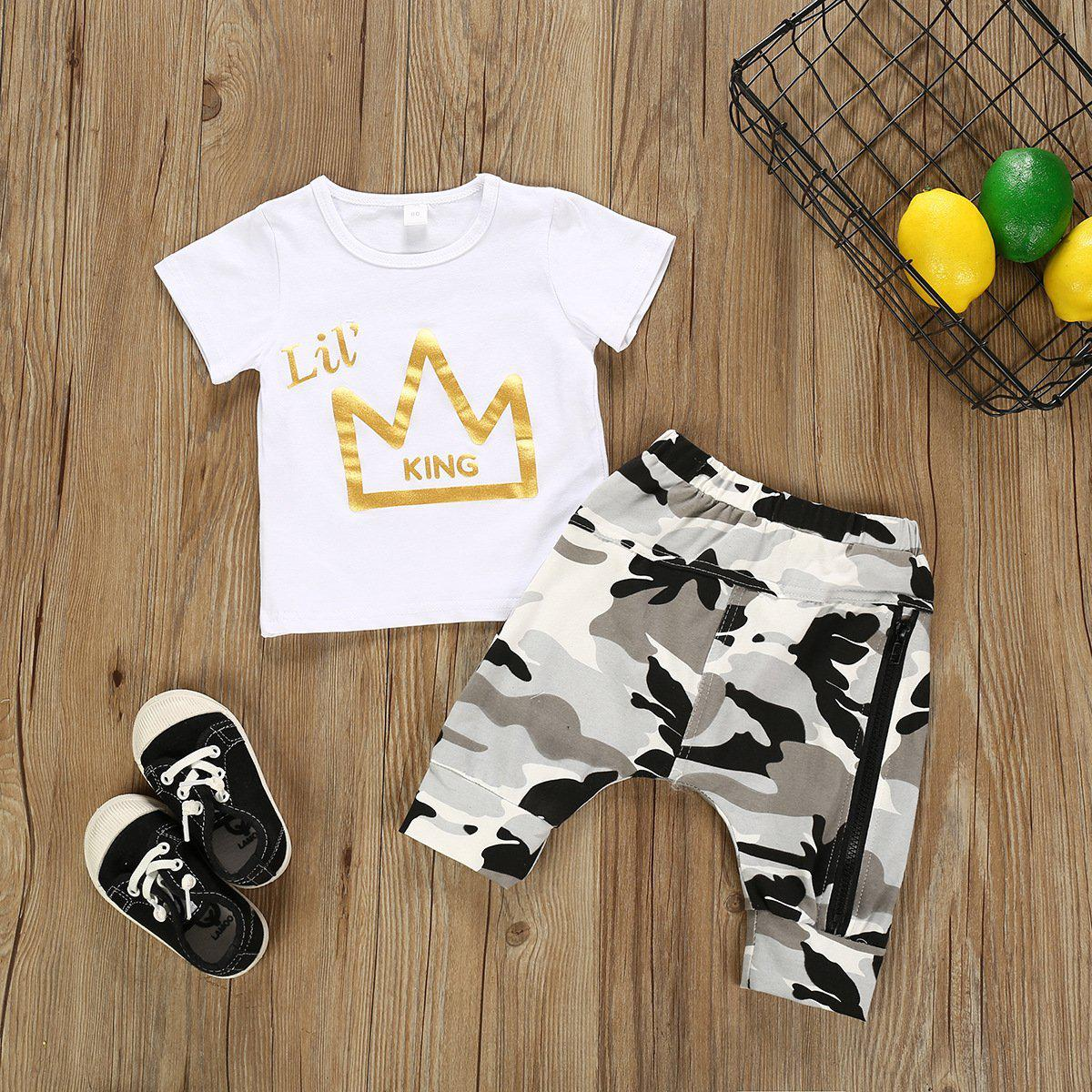 2-piece Baby Boy Cotton Suit