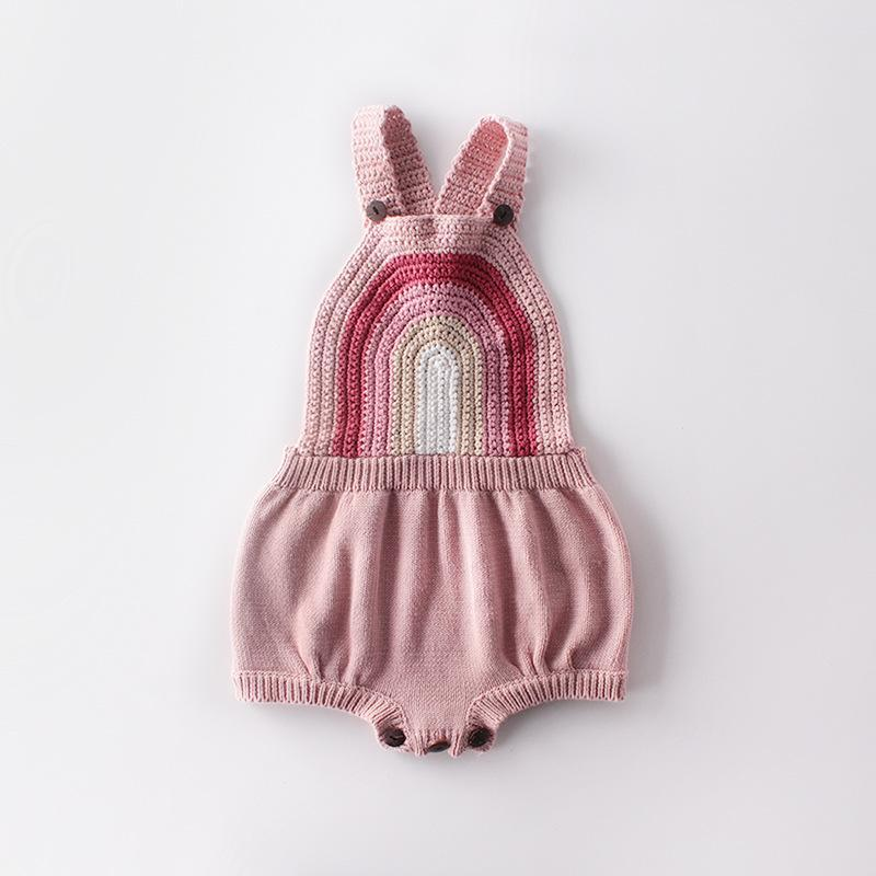 Baby Lovely Rainbow Knit Vest Sweater